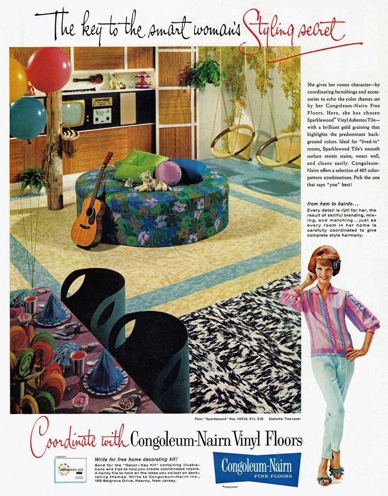 Vintage Floor Covering Ads Vintage Ads Contest Entry 1961 Congoleum Nairn Floor Coverings Http Lawson Vintage Advertisements Vinyl Flooring Vintage Floor