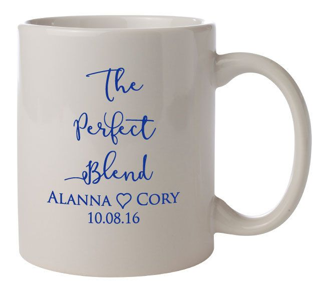 Personalized Wedding Mugs The Perfect Blend 144 Ceramic Coffee PERSONALIZED Favors Gifts