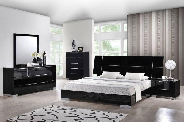 Hailey Contemporary Black Mdf Wood Master Bedroom Set Complete Bedroom Set Unique Bedroom Furniture Modern Bedroom Furniture
