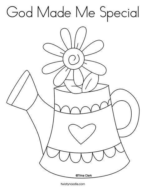 God Made Me Special Coloring Page Twisty Noodle Spring