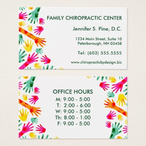 Pin On Chiropractic Business Card Designs
