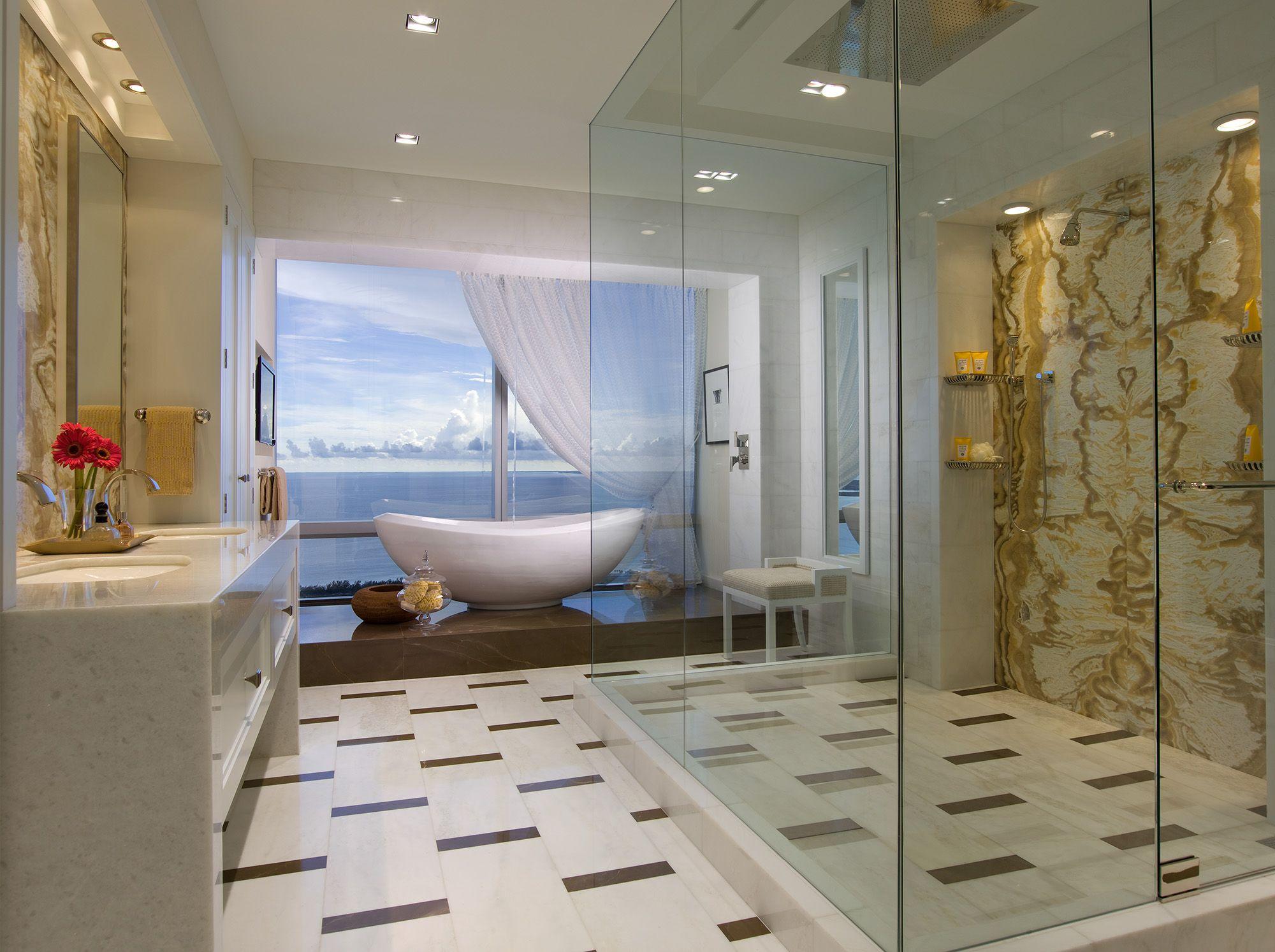 Bathroom Design Miami four seasons miami-residence master bathroom #opustone
