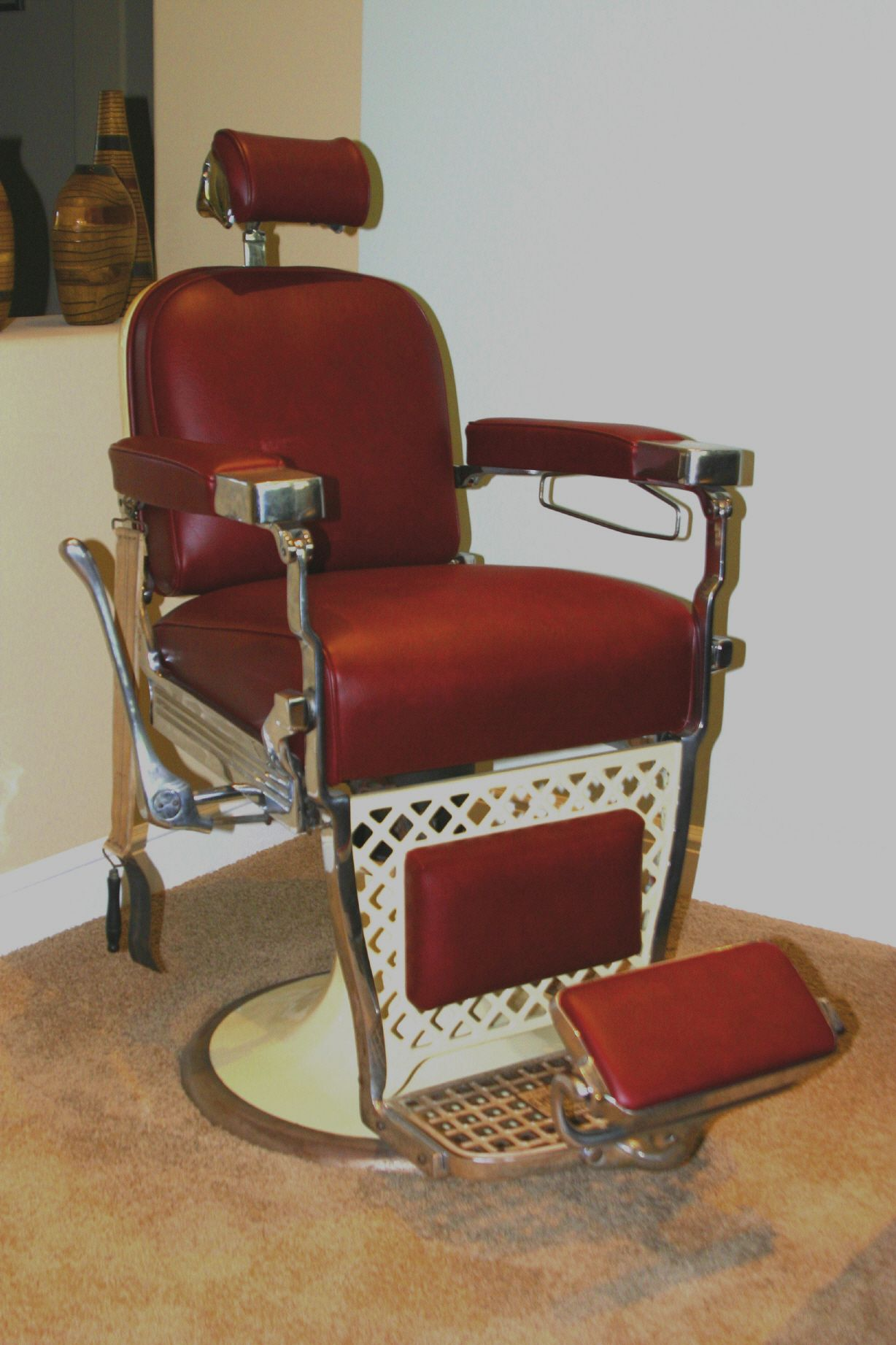 mobile barber chair victorian style chairs cheap antique http coastersfurniture org shabby
