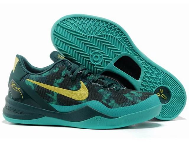 Nike Zoom Kobe 8 ELITE Series Shoes Green Yellow $58.89 #Nike Zoom Kobe 8#