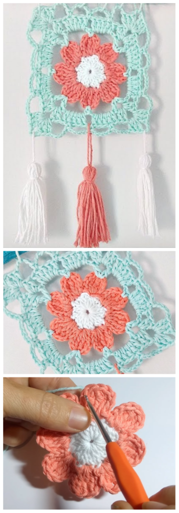 Crochet Flower Granny Square Pattern | CROCHET | Pinterest