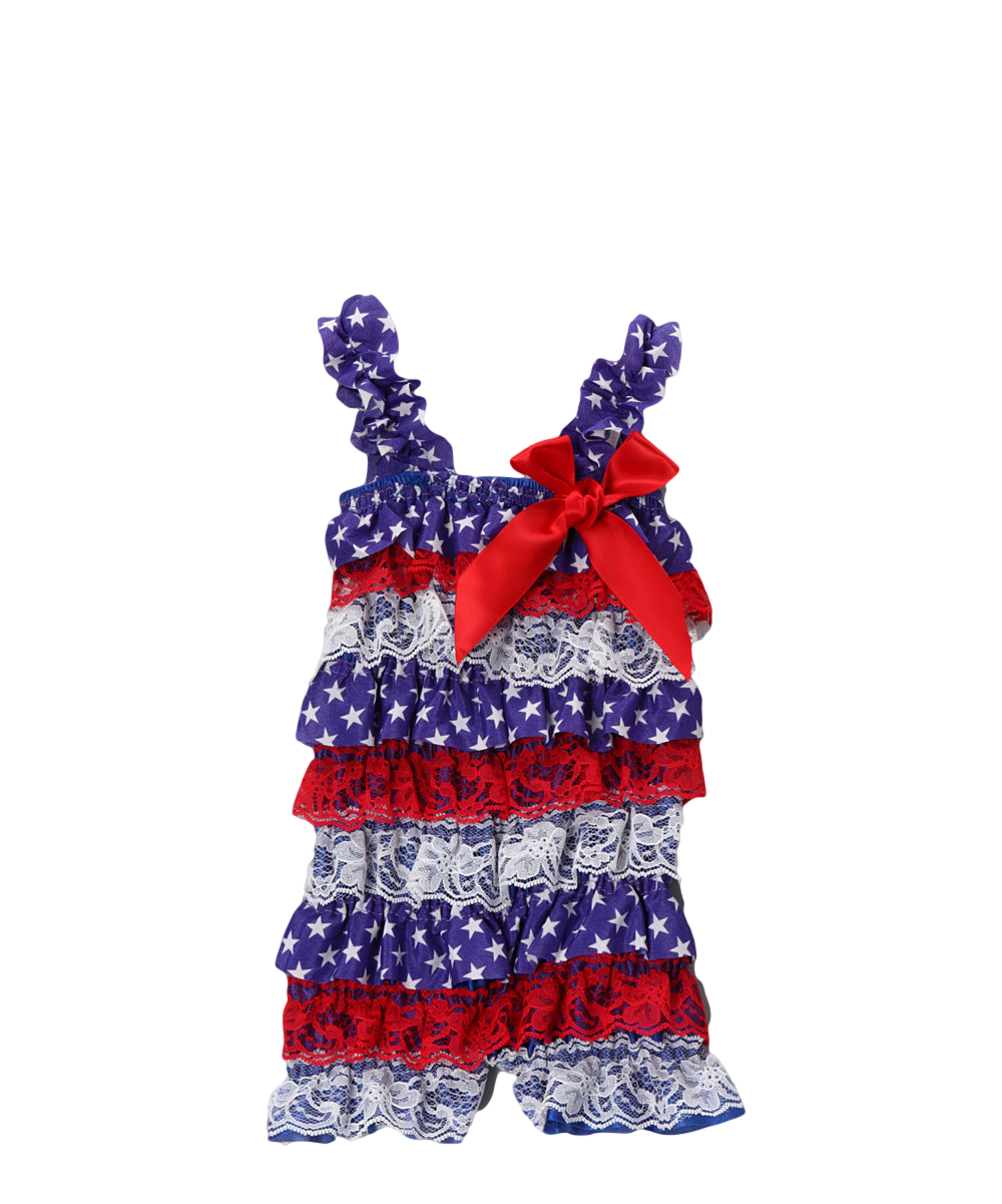 cb2983eeae97 Wholesale - Red   Blue Stars   Stripes Ruffle Romper