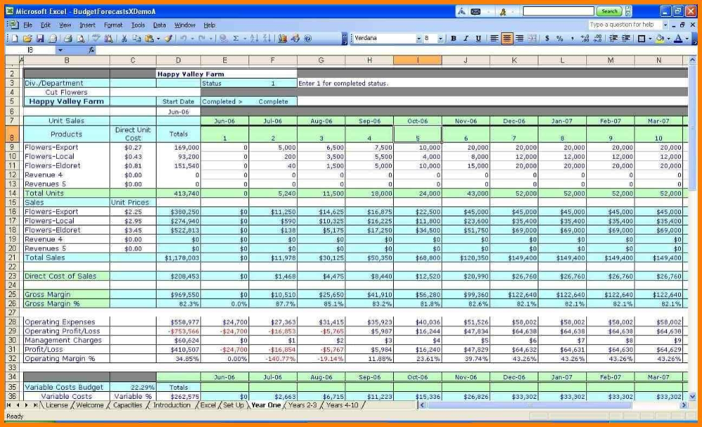 Spreadsheet For Accounting In Small