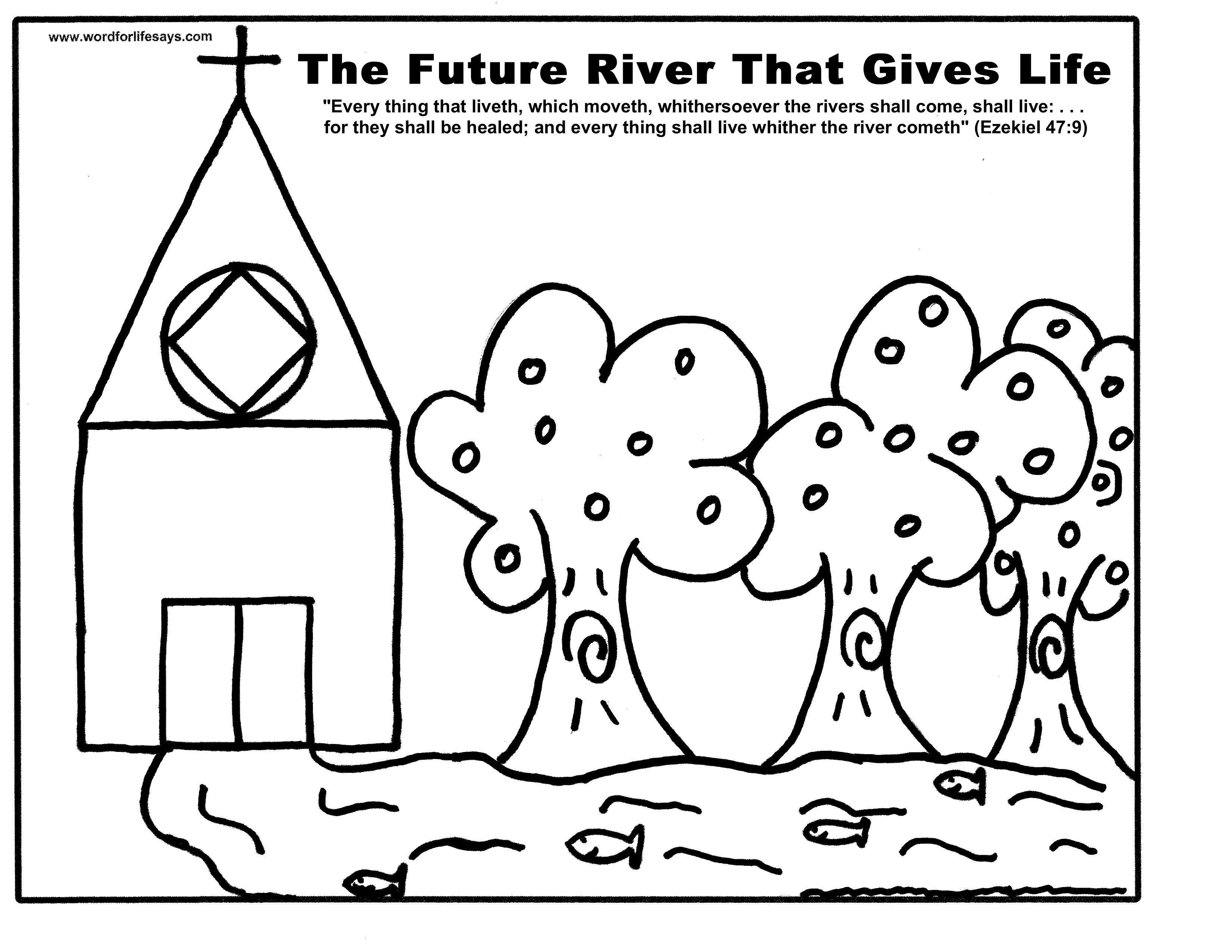 Ezekiel 47 9 Coloring Sheet For Kids