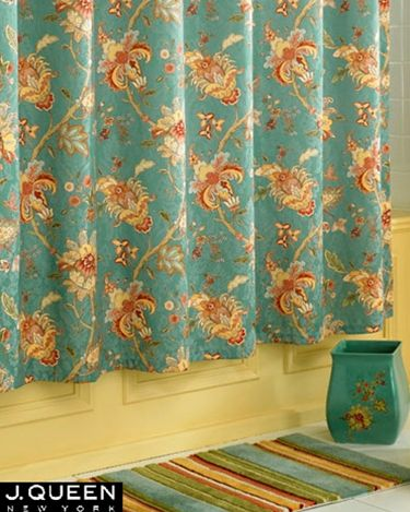J Queen New York Key Largo Shower Curtain New Homes Shower