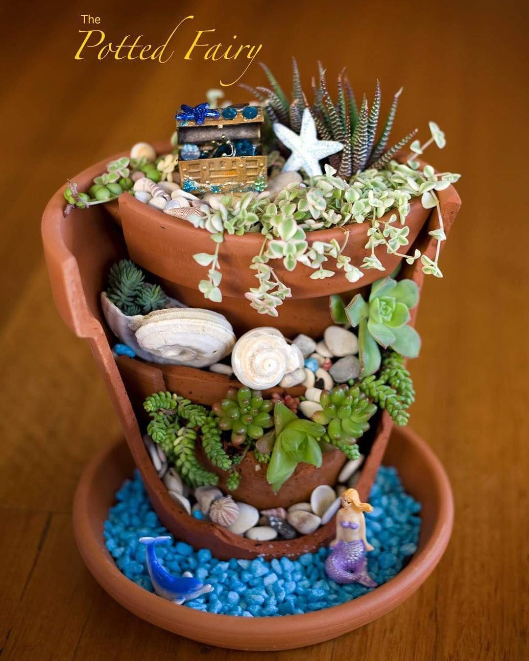 Broken Pot Mermaid Garden