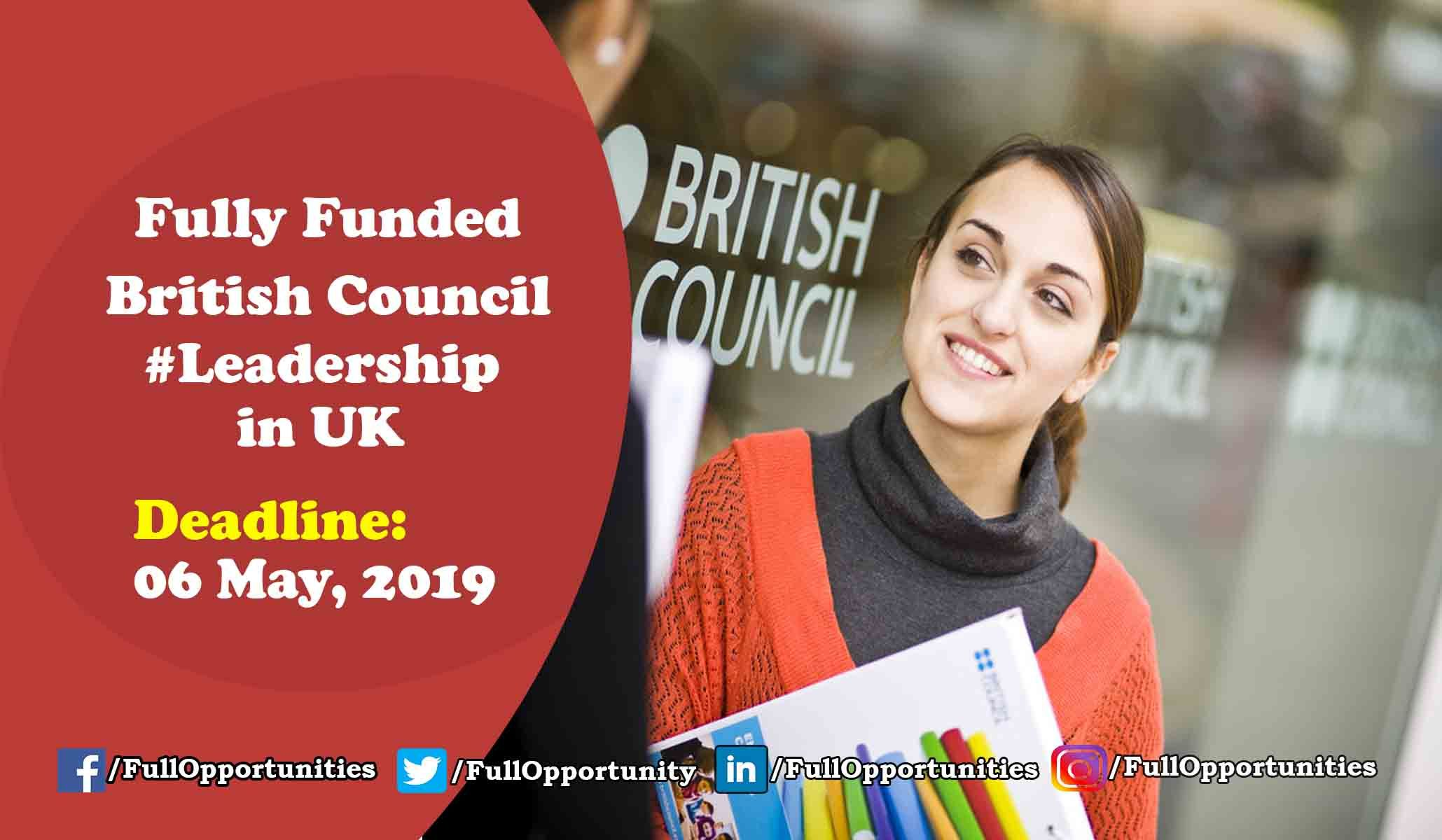 British council leadership program in uk fully funded