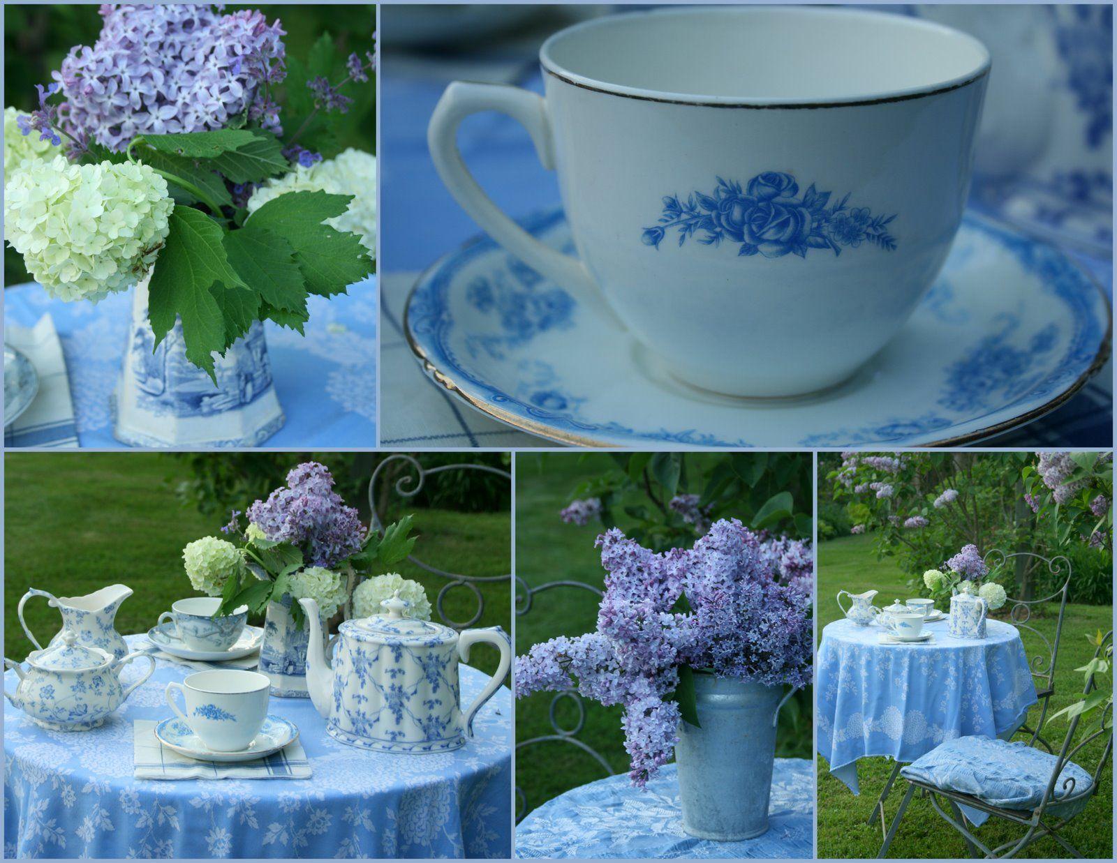 Aiken House & Gardens: French Blue Garden Tea   VICTORIAN CUPS ...