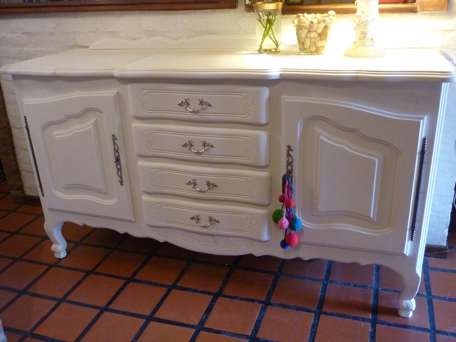 Vajillero aparador antiguo de roble estilo provenzal - Dormitorios estilo provenzal ...