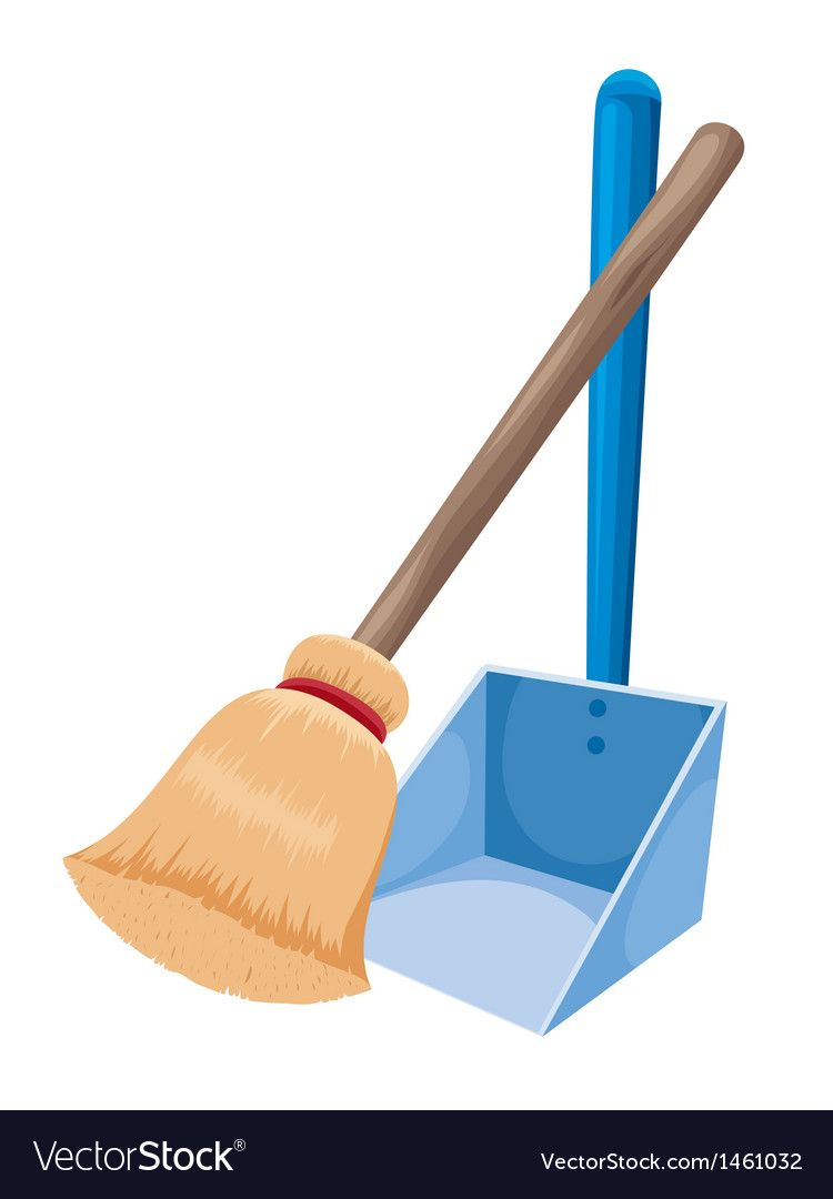 Broom And Dustpan Vector Image On Vectorstock Broom And Dustpan Vector Free Kids Vector Guaranteed to work with any application. broom and dustpan vector image on