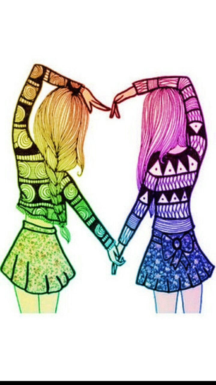 Pin By Agam On Bff Best Friend Drawings Drawings Of Friends