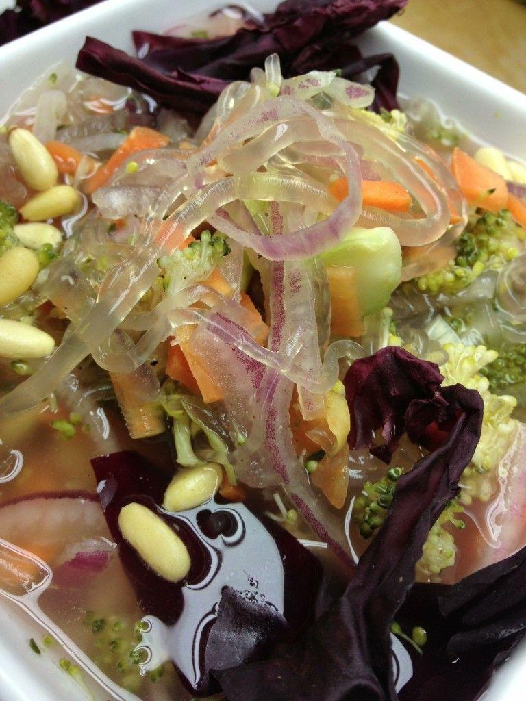 Raw Probiotic Sea Tangle Kelp Noodles Soup   Fermented Veggies ...