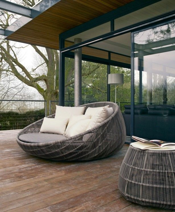 patio outdoor unique outdoor rattan chair unusual patio furniture natural color rattan material gray - Garden Furniture Unusual