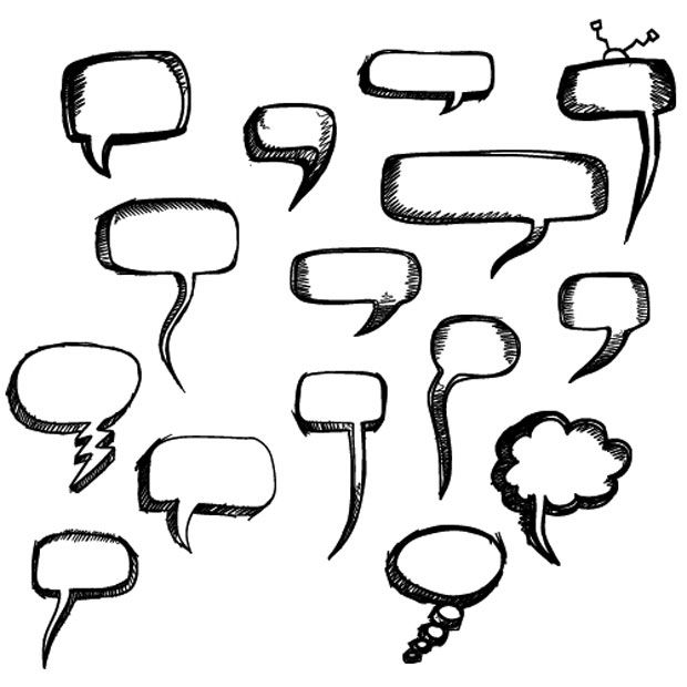 speech bubble photoshop brushes | wow brushes | prints and ...