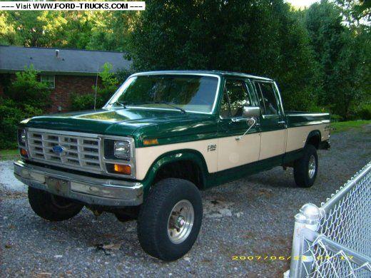 1985 Crew Cab Ford Ford Trucks Ford Crew Cab Pickup Trucks