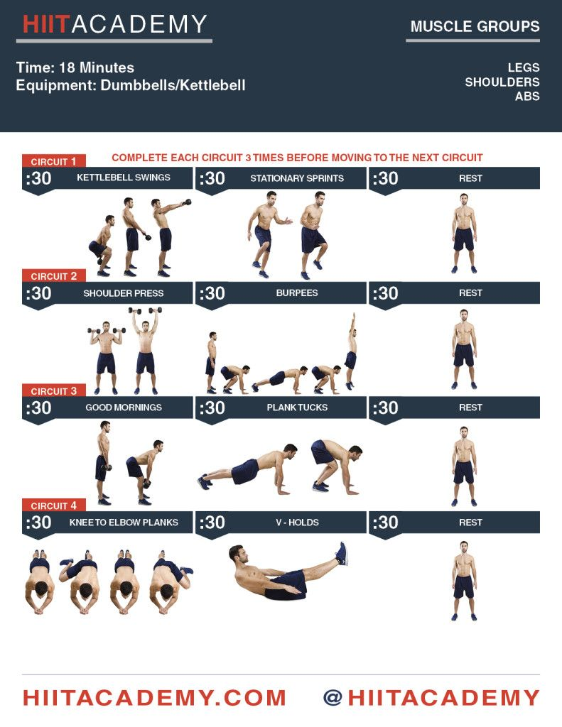 Kettlebell And Dumbbell 18 Min HIIT Workout
