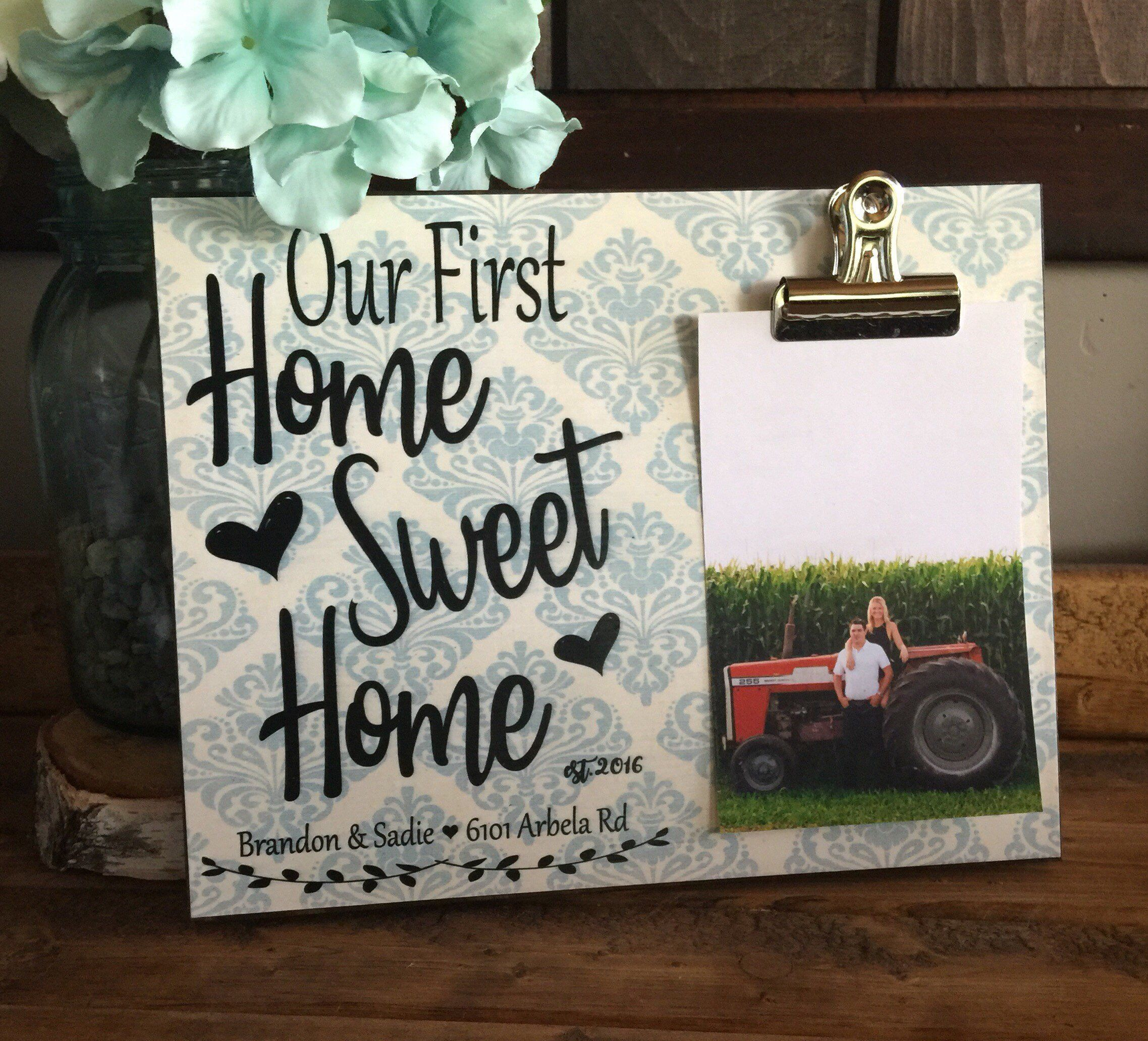 Personalized Picture Frame, Housewarming Gift, Our First