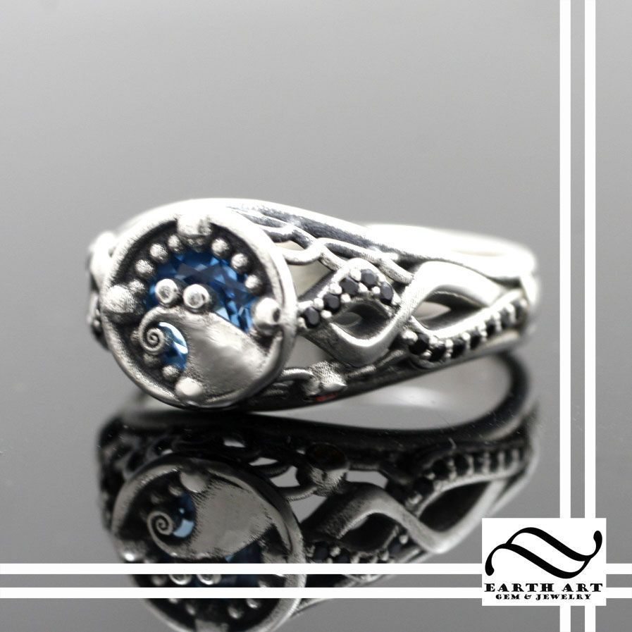 Custom made when jack met sally nightmare engagement ring gothic