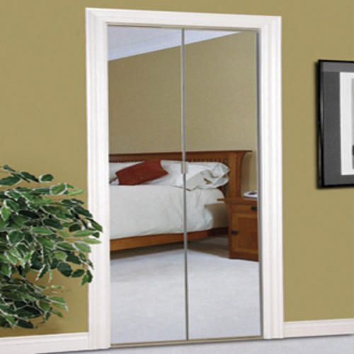Slimfold 24 X 80 Frameless Steel Bifold Mirror Door With Beveled