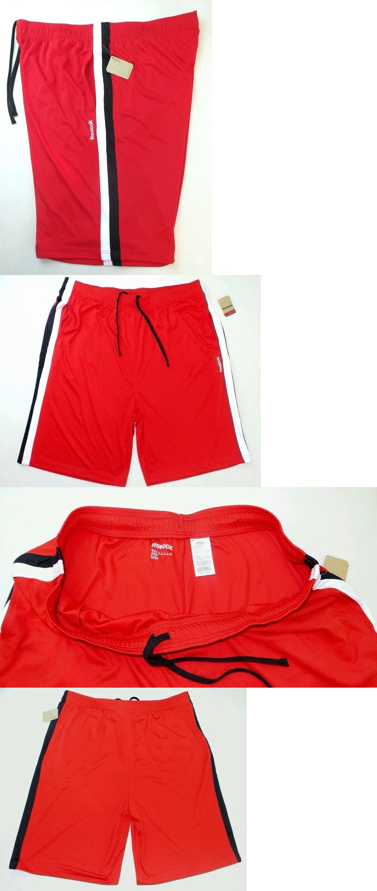 39f67587ebbd Basketball 21194  Reebok Big And Tall Men S Mesh Basketball Shorts 3Xl Red  W Color