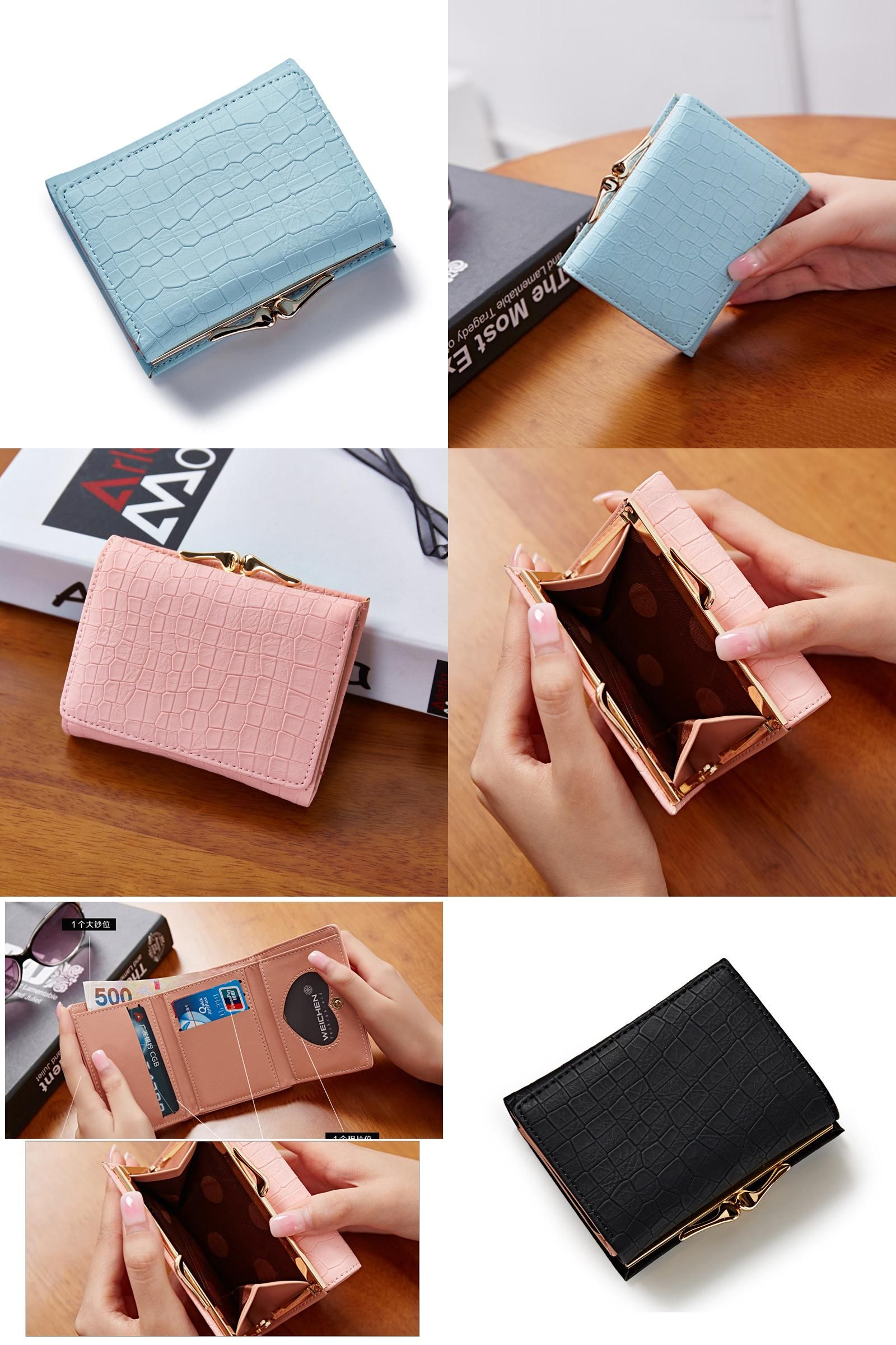 ead1140763b [Visit to Buy] 2017 Korean Style PU Leather Women Wallets Slim Mini Wallet  Women Small Clutch Female wallet Coin Purse Card Holder Coin Bag  #Advertisement
