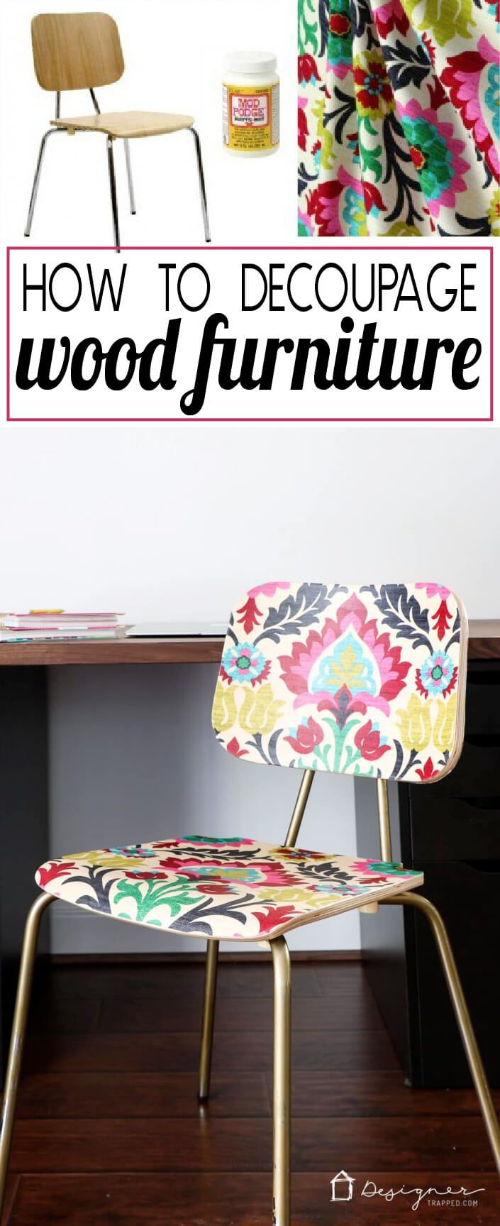 how to decoupage furniture for an upholstered look stuhl m bel und chen. Black Bedroom Furniture Sets. Home Design Ideas