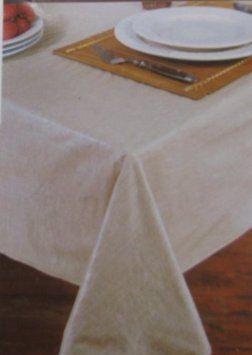 Amazon.com   Newport Natural Tan Vinyl Tablecloth, 70 Inches Round