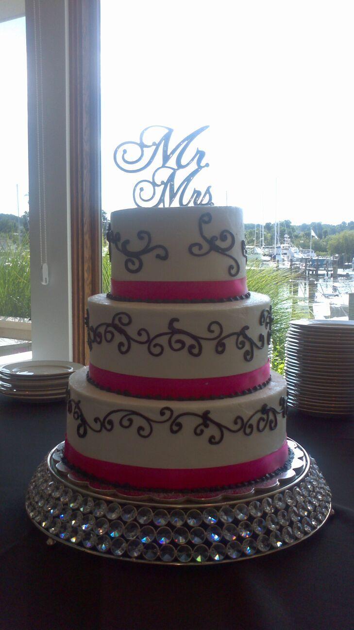 hot pink and black wedding cake | Blondie\'s: Wedding Cakes ...