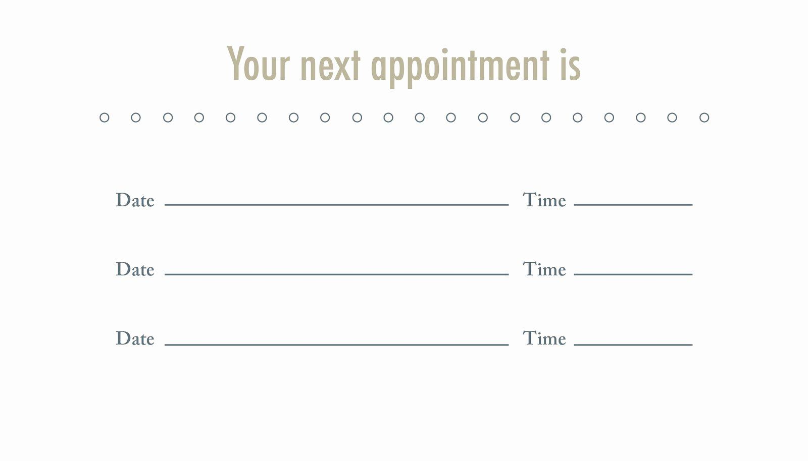Appointment Reminder Cards Template Free Elegant The Fice Business Card Template Business Card Appointment Free Business Card Templates Dental Business Cards