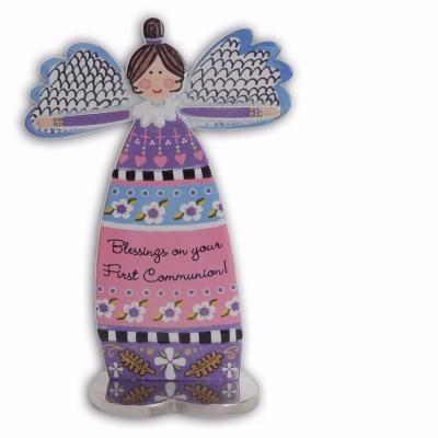 Rachel Anne Figurines Faith Angel Statue 74012 Hand Painted Gifts Angel Star