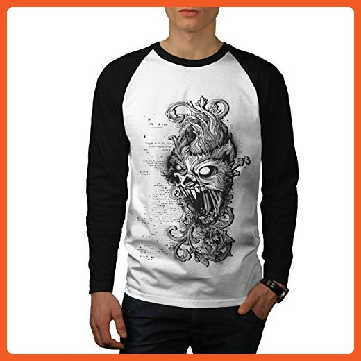 5ffd498ce3d177 Sea Horror Face Mask Terror USA Men XL Baseball LS T-shirt ...