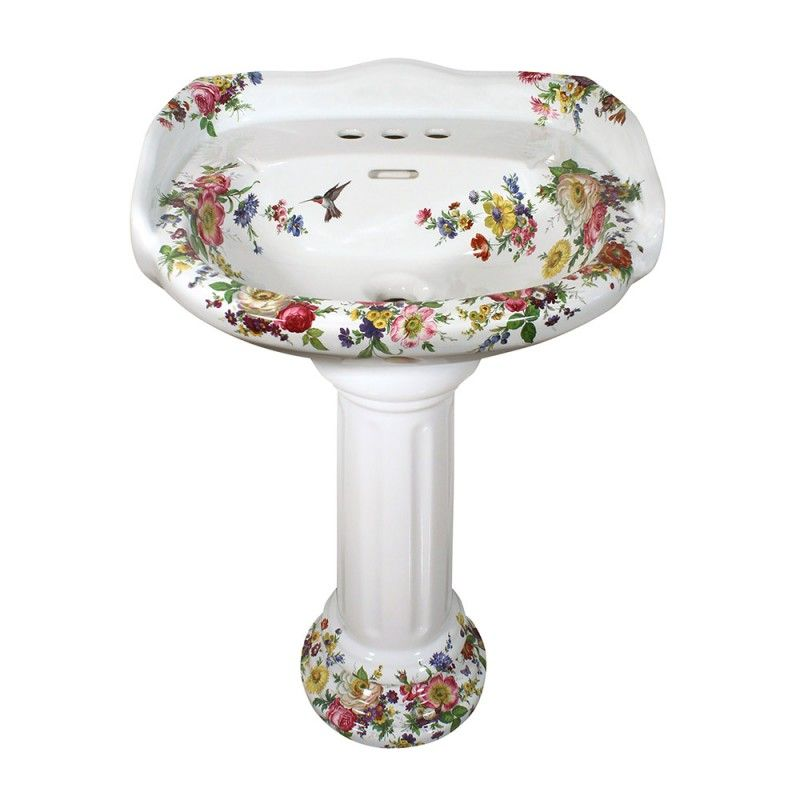 Bon Scented Garden Design On A Barclay Vicki Pedestal Sink. Just One Of Our  Scented Garden