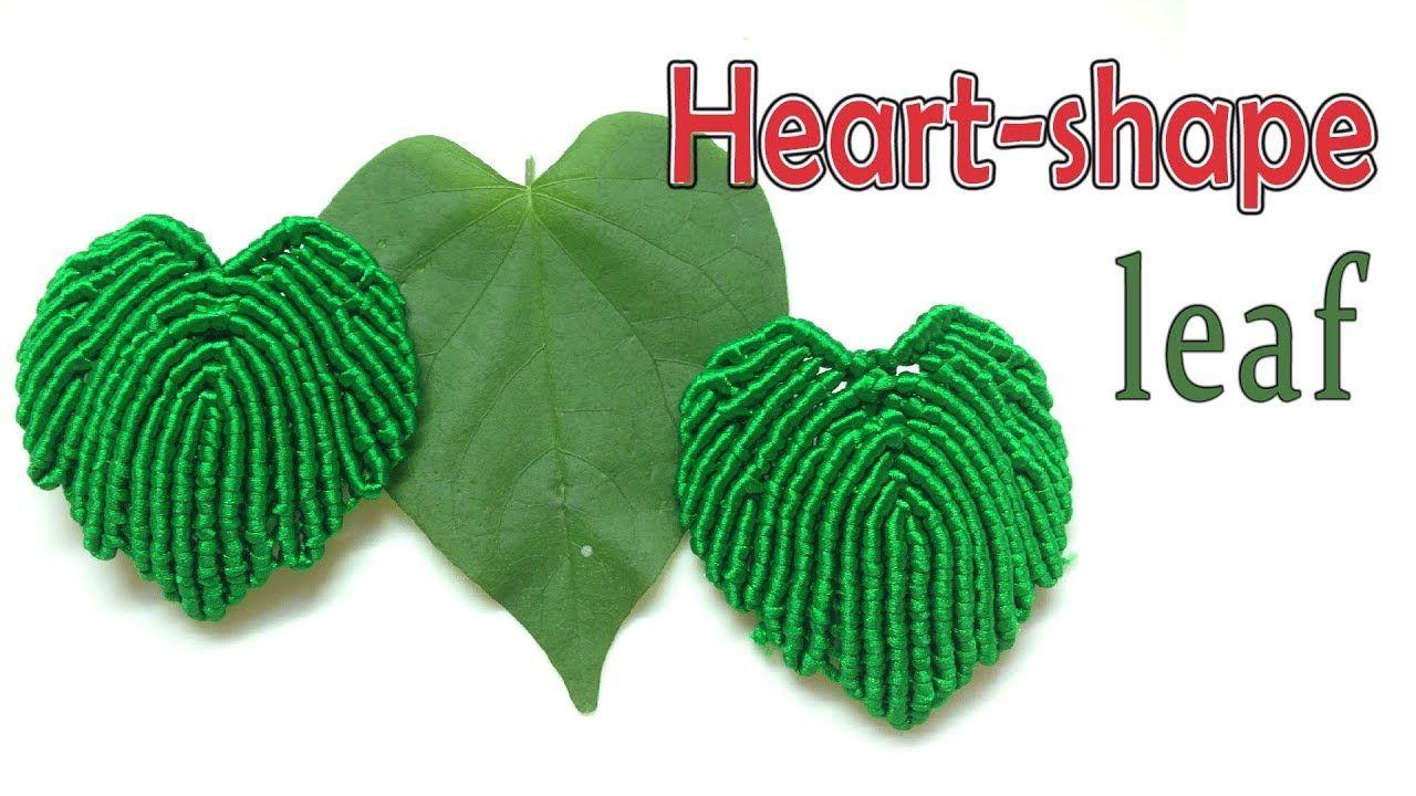 Macrame tutorial The basic heartshape leaf pattern for
