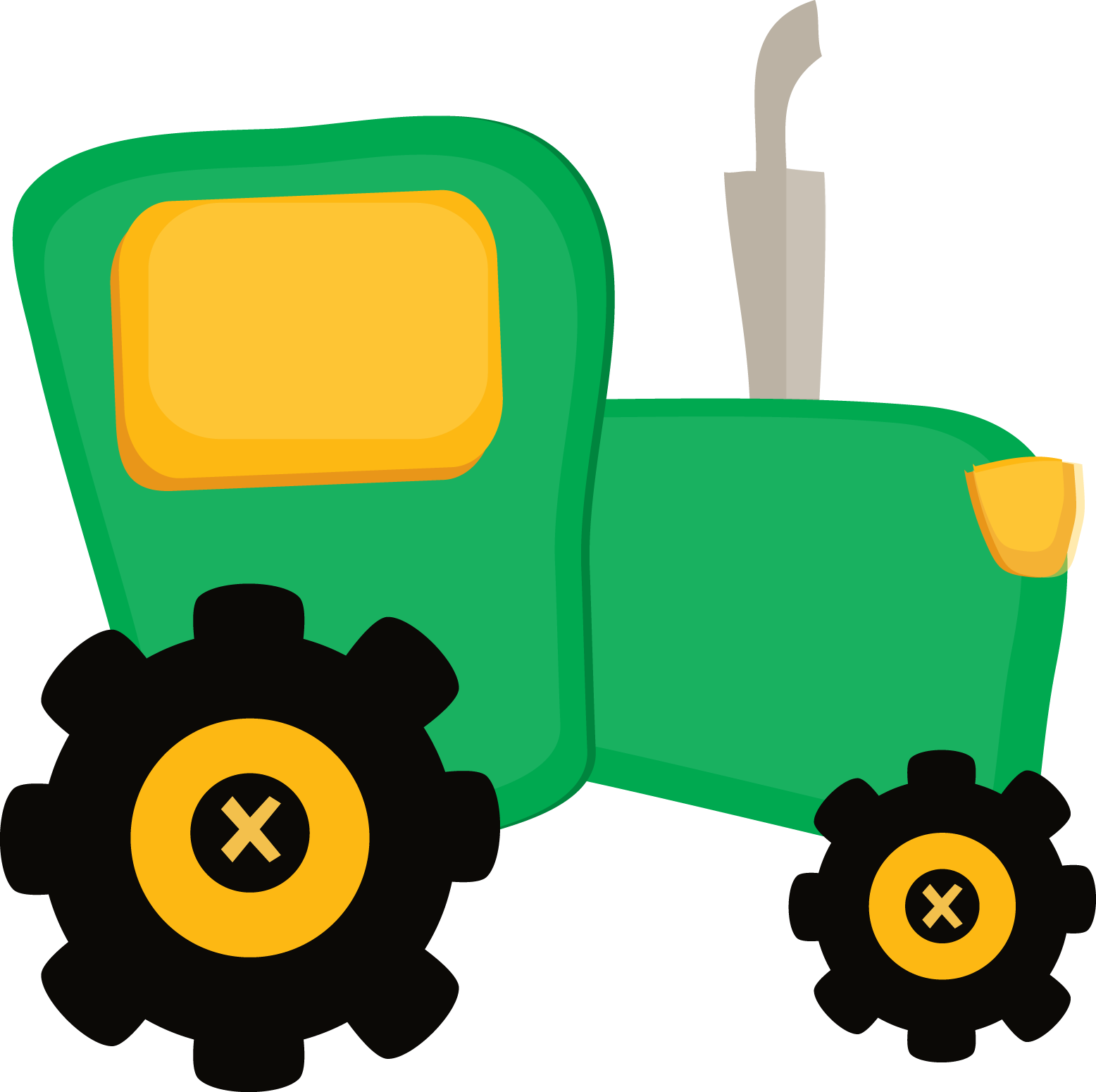 Animated John Deere Tractors And Wagon : Fazendinha cute clipart tractor png minus cliparts co Т