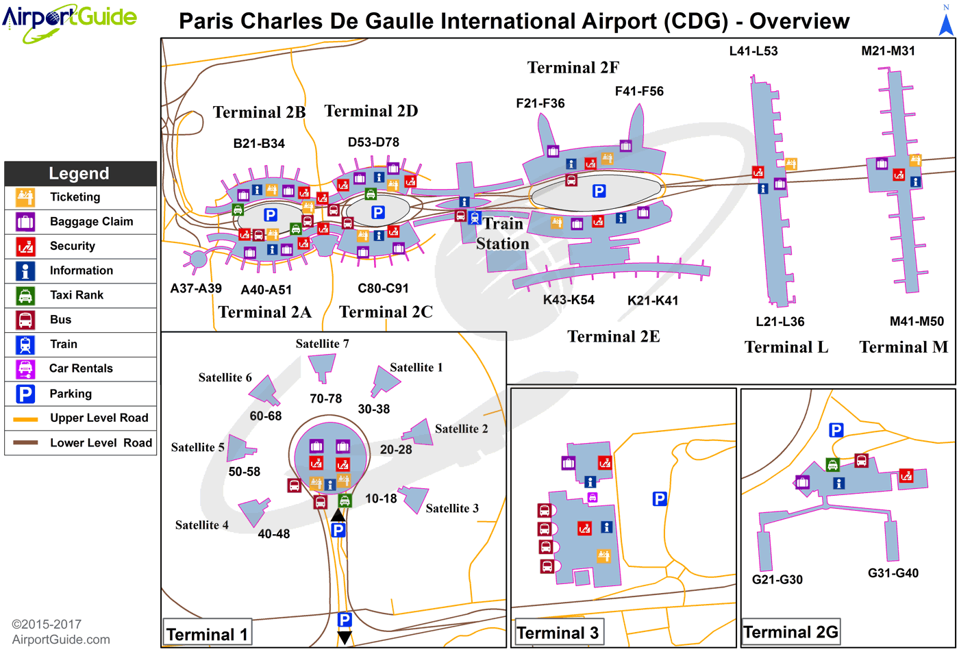Paris Cdg Airport Map Paris   Charles de Gaulle International (CDG) Airport Terminal Map