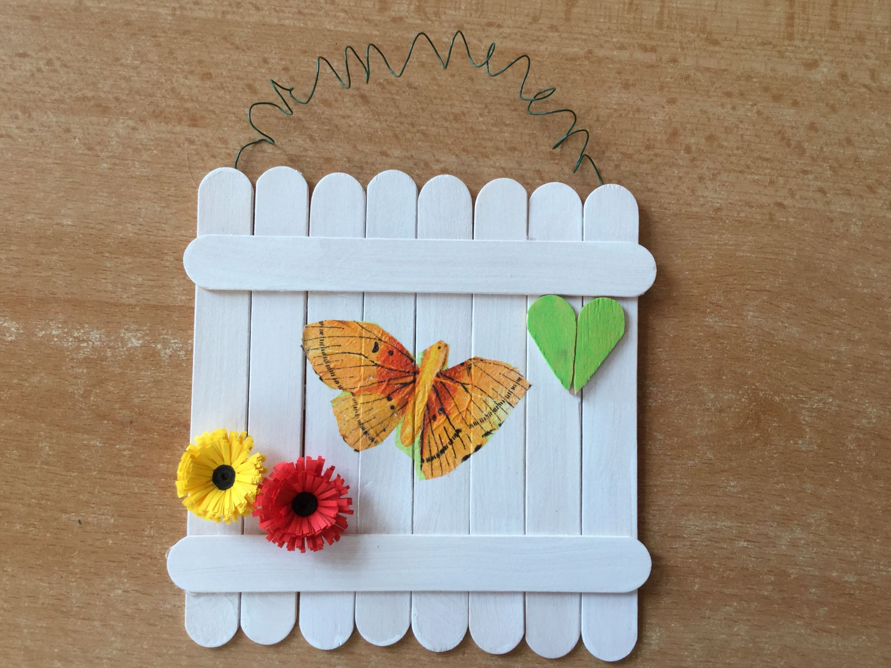 Popsicle stick art #craftsforkids #crafts  | Popsicle Stick