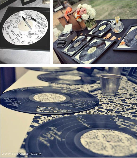 20 Creative Guest Book Ideas For Wedding Reception This Is Vinyl Record Alternative If You Are A Music Junkie Use It On Table At The