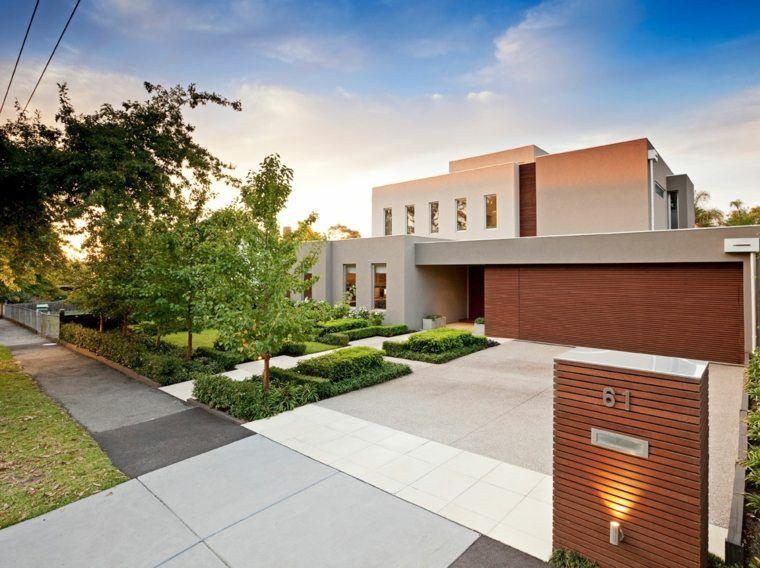 Amenagement Exterieur Maison Jardins D Entree Modernes Amenagement Jardin Devant Maison Amenagement Devant Maison Facade Villa Moderne