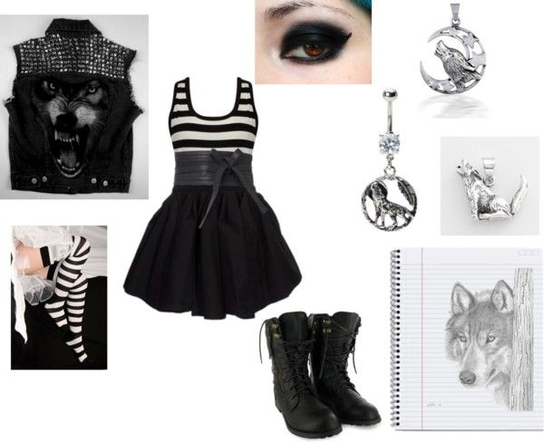 """""""wolf lover"""" by punk-jay ❤ liked on Polyvore"""