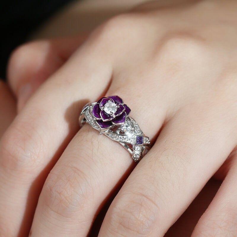 46+ Rose gold flower wedding rings ideas