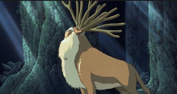 The Forest Spirit Shishigami From Princess Mononoke Anime