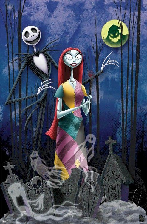 Nightmare Before Christmas - Jack Sally Romance Movie Poster   ART ...