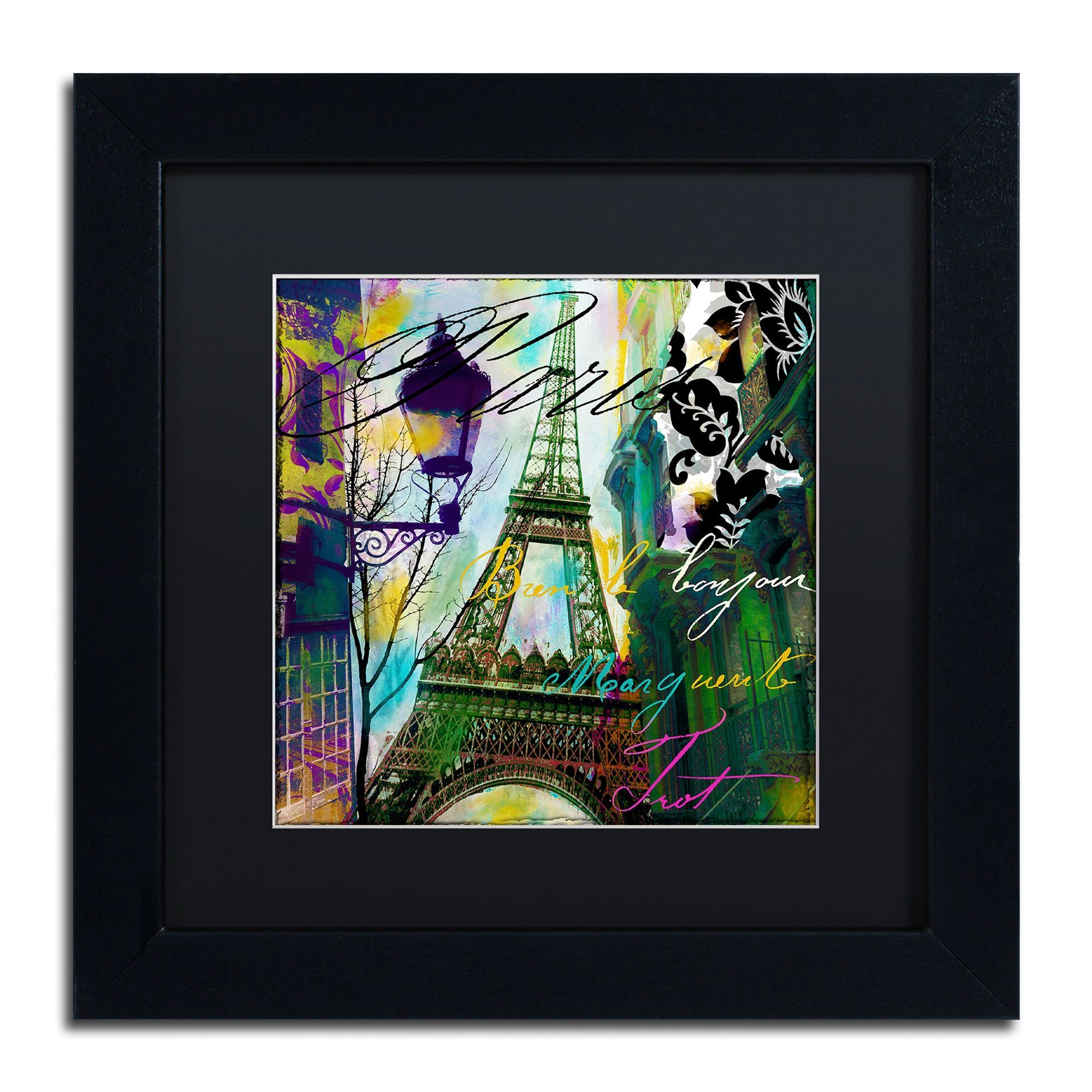 Color Bakery 'To Paris With Love I' Matted Framed Art