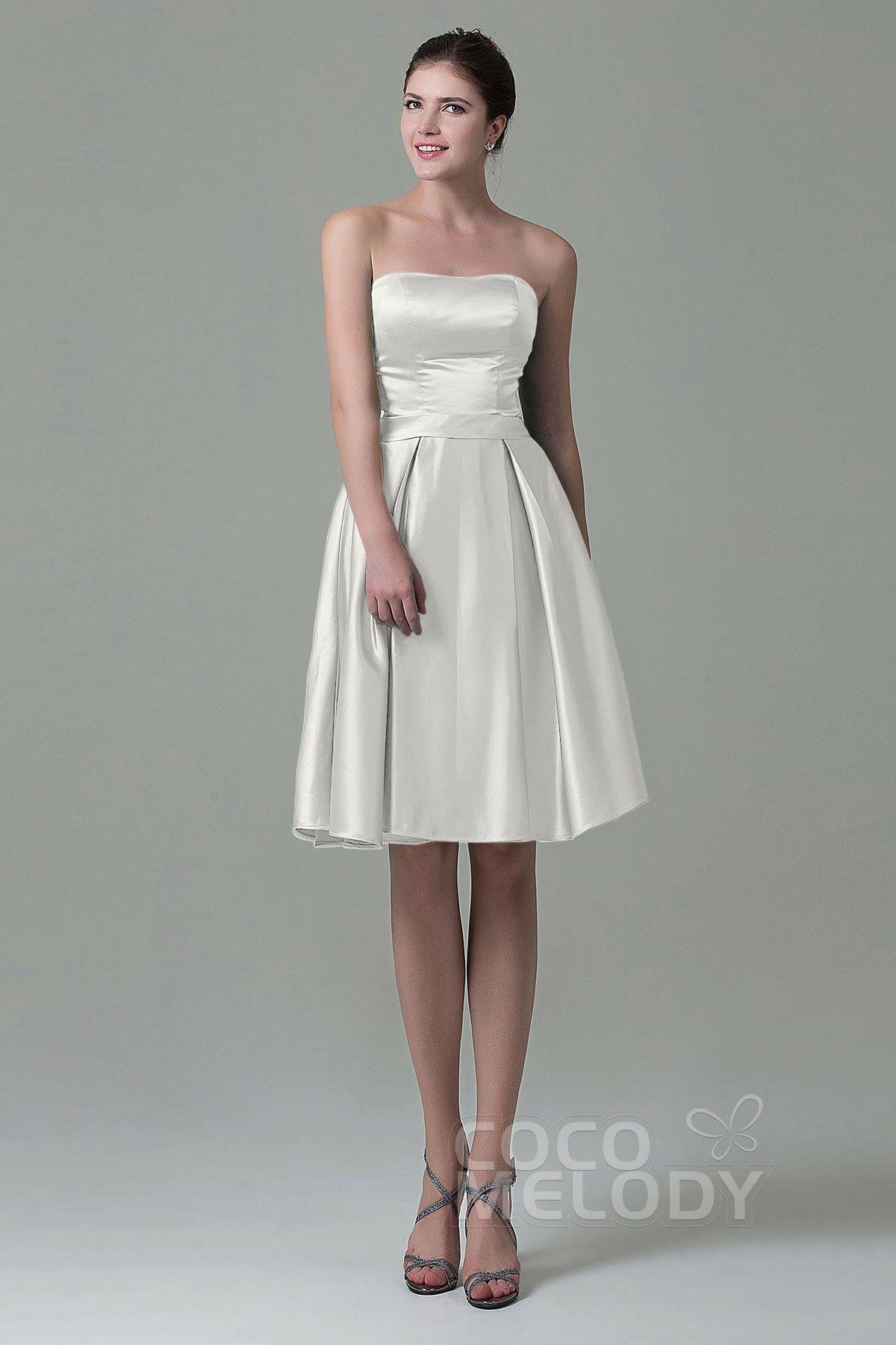 1cb40a6bec3 USD  79   A-Line Knee Length Satin Bridesmaid Dress COZK1500A in ...