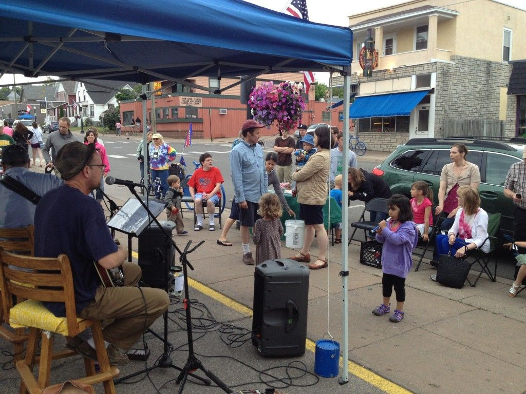 Music on Third Street Downtown Marquette, Michigan June