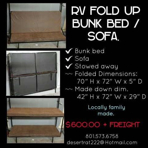 Cargo Trailer Rv Fold Up Bunk Beds Cargo Trailer Rv Fold